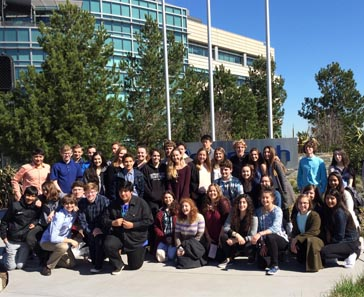 Students visiting Genentech.